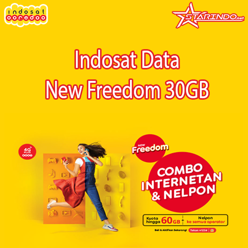 Paket Indosat Indosat Data New Freedom - New Freedom 30GB 30 Hari
