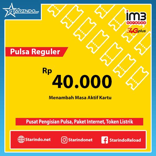 Pulsa Indosat Reguler - Indosat 40.000