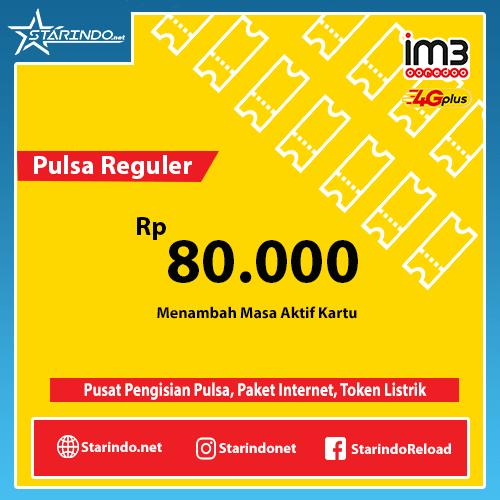 Pulsa Indosat Reguler - Indosat 80.000