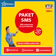 300 SMS Isat+100 SMS All Op 30 Hari